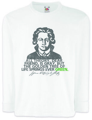 T-shirts & Tops T-shirts, Tops & Shirts Goethe All Theory Kids Long Sleeve T-shirt Kids Long Sleeve T-shirt Quote 100% Original