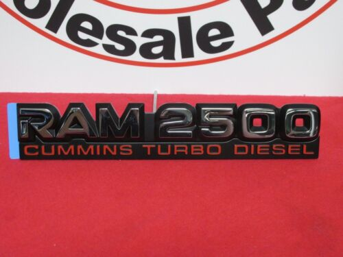 DODGE RAM 2500 Chrome Cummins Turbo Diesel Nameplate NEW OEM MOPAR