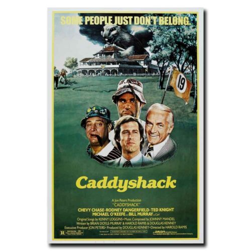 Caddyshack Movie Chevy Chase 12x18 24x36inch Classic Movie Silk Poster