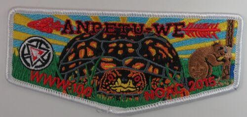 S401 2015 NOAC Centennial OA Anpetu-We Lodge 100 WHT BDR Flap