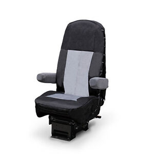 Amazing Details About Black Gray Heavy Duty Seat Cover For Freightliner Peterbilt Kenworth And More Ocoug Best Dining Table And Chair Ideas Images Ocougorg