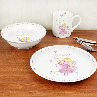 Personalised Twinkle Breakfast Set Plate Cup New Baby Kids Birthday Gift