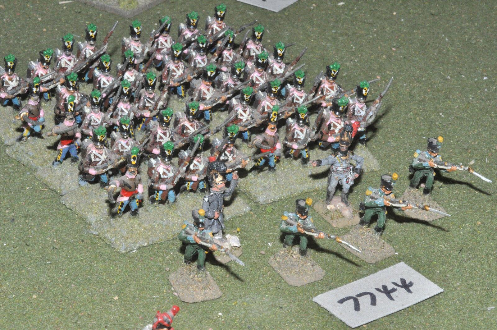25mm Infantería Napoleónicas Zuecos - 46 higos Metal Pintado-INF (7744)