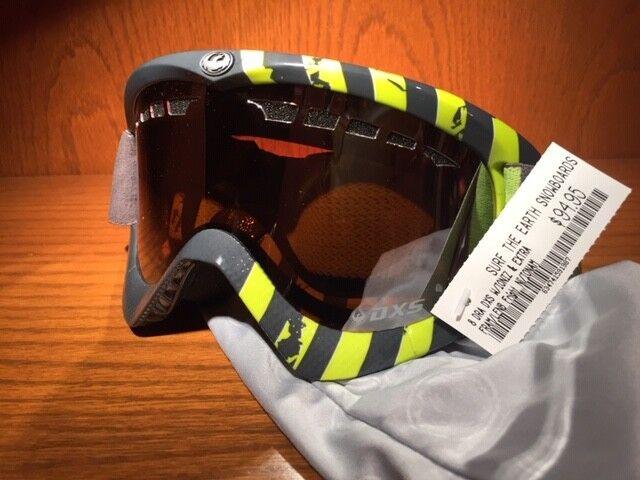 DRAGON DXs Snow Goggles Grey  Green with MirrorLense Snow Goggles Ski Snowboard