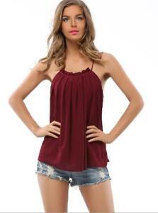 Women-Tank-Top-Neck-Tie-T-shirt-Sexy-Sleeveless-Shirt-Casual-Blouse-Tops