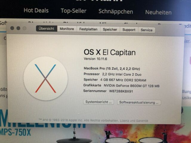 Apple MacBook Pro 39,1 cm (15,4 Zoll) Laptop - MA895D/A (Juni, 2007)