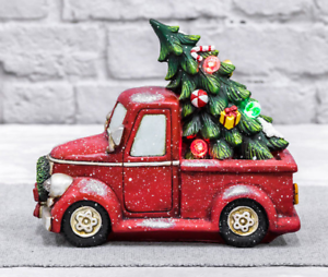 Christmas Red Truck.Details About New Country Christmas Red Vintage Pick Up Truck W Light Up Christmas Tree