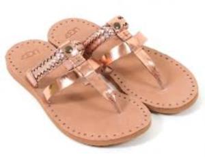 da1459a792c UGG Australia Audra Rose Gold Braided Flip Flop Sandal Womens sizes ...