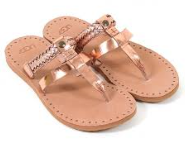 af3b91df7c5 UGG Australia Audra Rose Gold Braided Flip Flop Sandal Womens sizes  5-11/NEW!!!