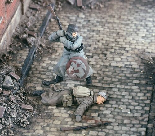 """Verlinden 1//35 /""""Out of Ammo/"""" German and Russian Soldiers WWII 2 Figures 2253"""