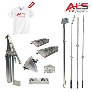 Details about Platinum Finishing Set of Automatic Drywall Taping Tools w/  3