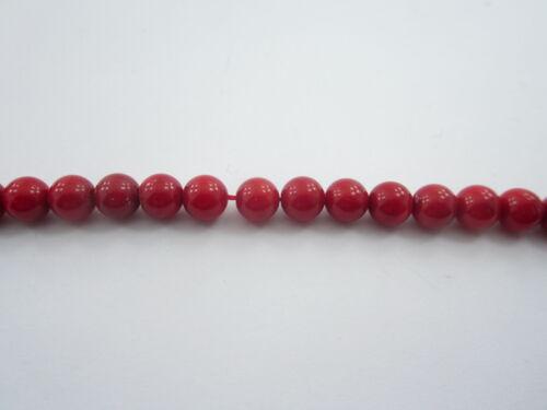 1 filo di perle cabochon  in corallo bambù 1° scelta lungo 40 cm