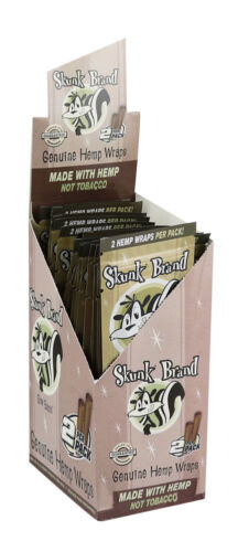 25PC DISPLAY Skunk Brand Slow Burning Hemp Wrap