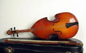Violon Contre-basse Miniature Bass Violin 20 Cm C 1930 Instrument De Musique