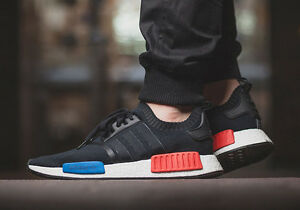 Adidas NMD R1 Runner PK Black Blue-Red Men s Athletic Shoes Size 14 ... 91d4f769bf41