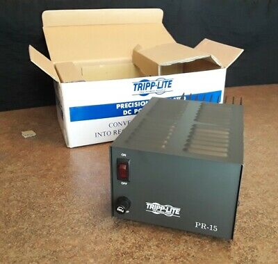 New in box Tripp Lite PR15 DC Power Supply 120V AC Input to 13.8V DC Output