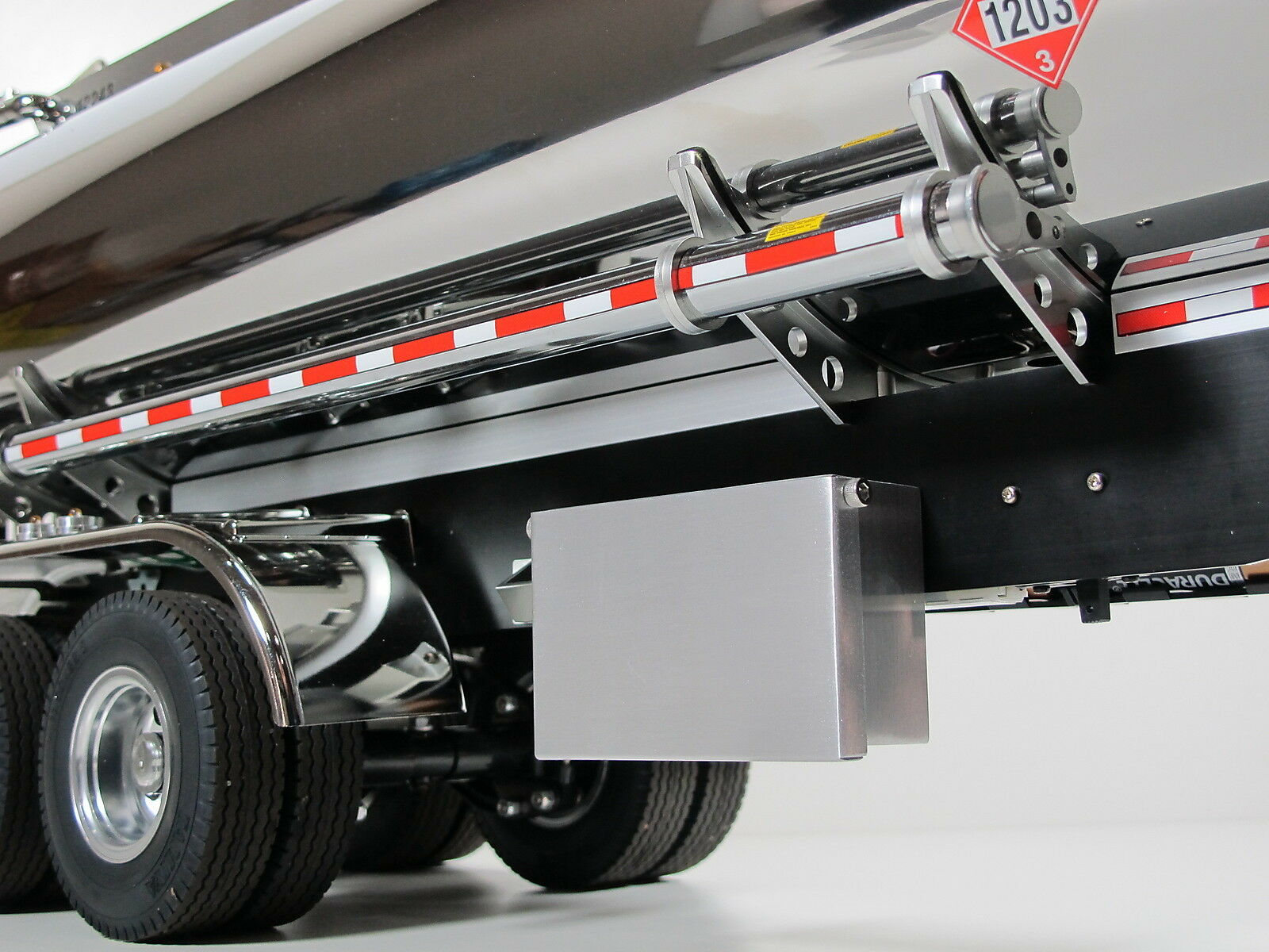 TOY Aluminum Side Tool Box Lid Tamiya 1 14 R C Trailer Tanker Container Flatbed