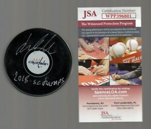 Lars Eller Signed Autographed Washington Capitals Logo Puck JSA WPP396801