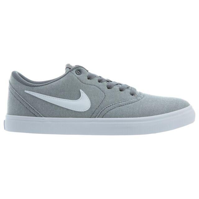size 40 3948a 1b8aa Nike SB Check Solar Canvas Mens 843896-003 Cool Grey Skateboard Shoes Size 8