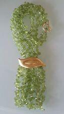 Vintage 18k Yellow Gold Peridot Necklace Estate Jewelry 59 gm