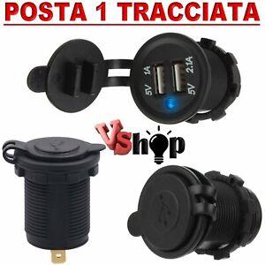 caricabatterie-USB-12V-24-presa-accendisigari-doppia-porta-per-auto-furgone-moto