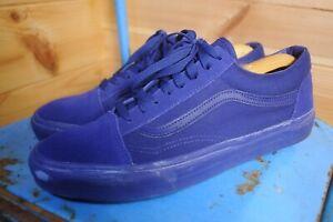 Vans Old Skool All Blue Trainers Sneakers UK 9 US 10 | eBay