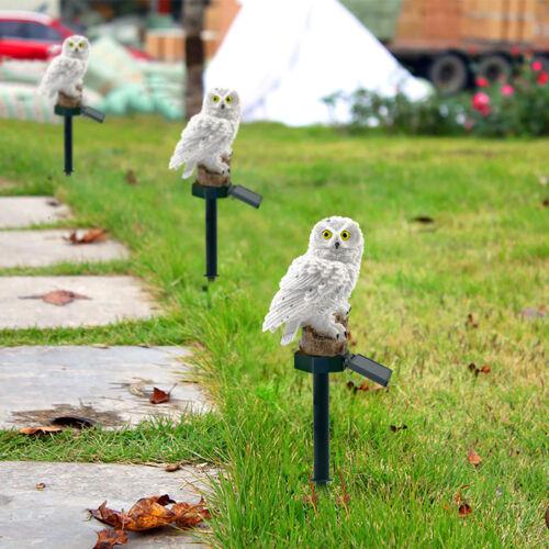 LED Garden Lights Solar Night Lights Owl Shape Solar-Powered Landscape Lamp IGL2