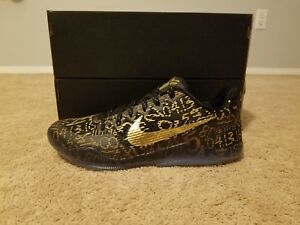 0a8be4ab107d Nike Kobe 11 XI Mamba Day Size 12 Nike iD Black Metallic Gold