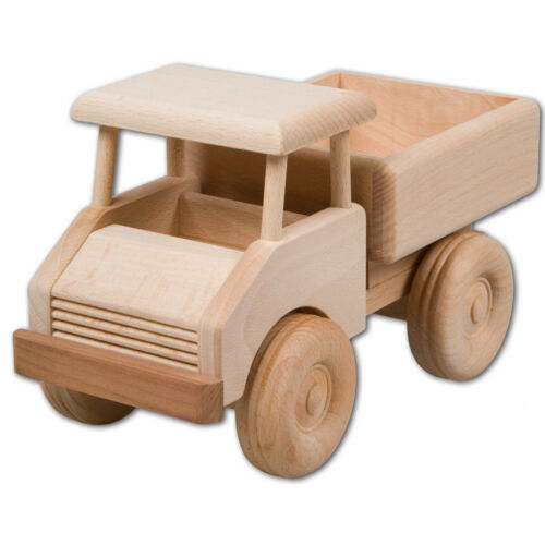Hofmeister Kleiner Lastwagen aus Buchenholz 21,5cm Holzauto Spielzeugfahrzeug Fahrzeuge