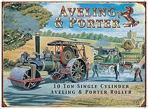 AVELING /& PORTER moteurs à vapeur petit signe de métal 200mm x 150 mm og