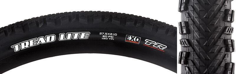 Maxxis Tread Lite DC EXO TR Tire Max Tread Lite 27.5x2.1 Bk Fold 120 Dc exo tr