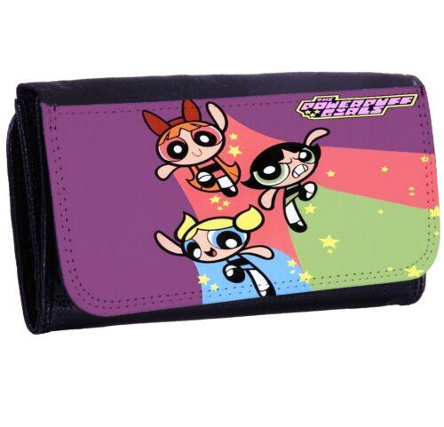POWERPUFF GIRLS New Bi-fold Zipper Bill /& Card Holder Purse Long Wallet