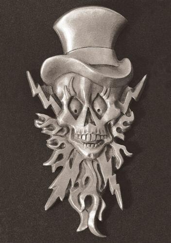 Lightning Skull  Dash Plaque Rat Rod Emblem #6 Guitar