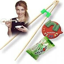 FUN CHOP 1500 TRAINING CHOPSTICKS CHEATERS HELPERS INDIVIDUALLY PACKAGED FUNCHOP