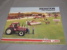 Vintage HESSTON Farm Equipment Full Line Tractor Catalog Brochure 1985 52 pages