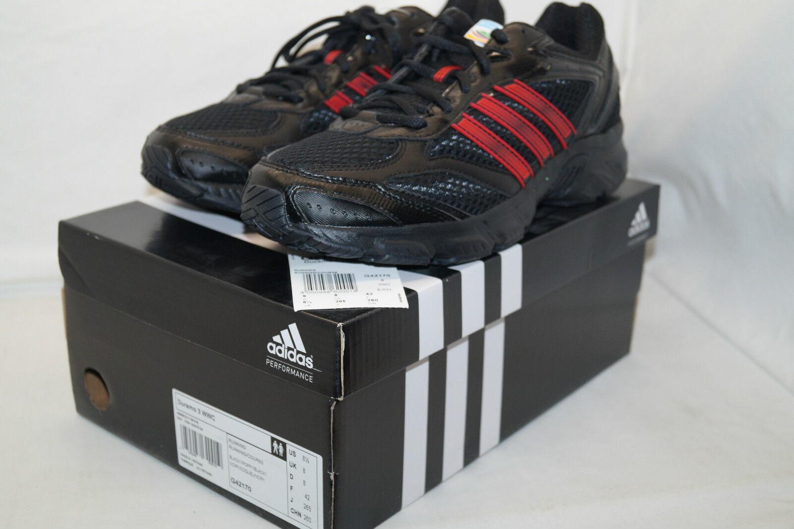 Adidas DURAMO 3 WWC schwarz Gr.42 UK.8 sonder ed.FRAUEN Fussball WM 2011 Germany