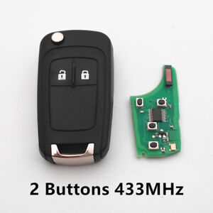 Remote Key Fob for CHEVROLET Malibu Cruze Aveo Spark Sail 433MHz ID46 Chip