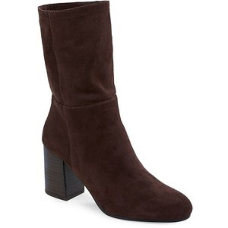 Eileen Fisher  Brown Suede Cinch Ankle Boots SZ 9.5