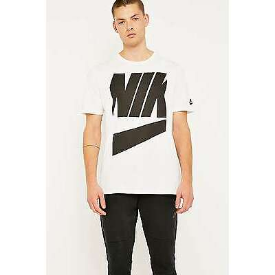 Nike HBR Large Logo T-shirt Tee - White - Large - RRP £18 - Brand New