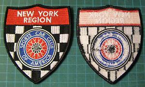 SPORTS-CAR-CLUB-OF-AMERICA-NEW-YORK-REGION-EMBROIDERY-PATCH-IRON-ON-SCCA-RACING