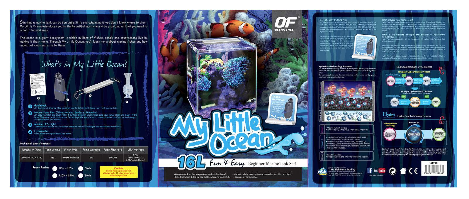 merce di alta qualità e servizio conveniente e onesto OF OCEAN FREE FREE FREE MY LITTLE OCEAN BEGINNER MARINE TANK (16 L) 4 GALLON  ultimi stili