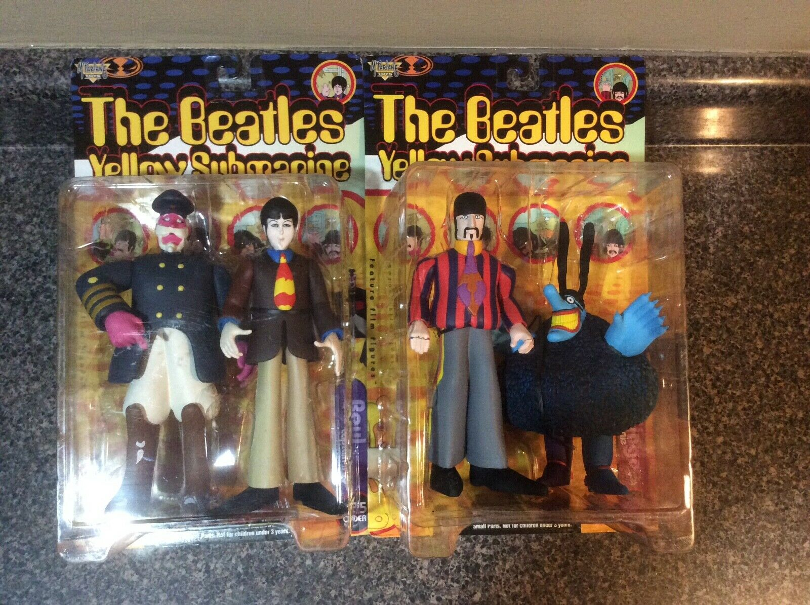 2 Action Figures Beatles Gelb Submarine Spawn MacFarlane Toys NEW Paul & Ringo