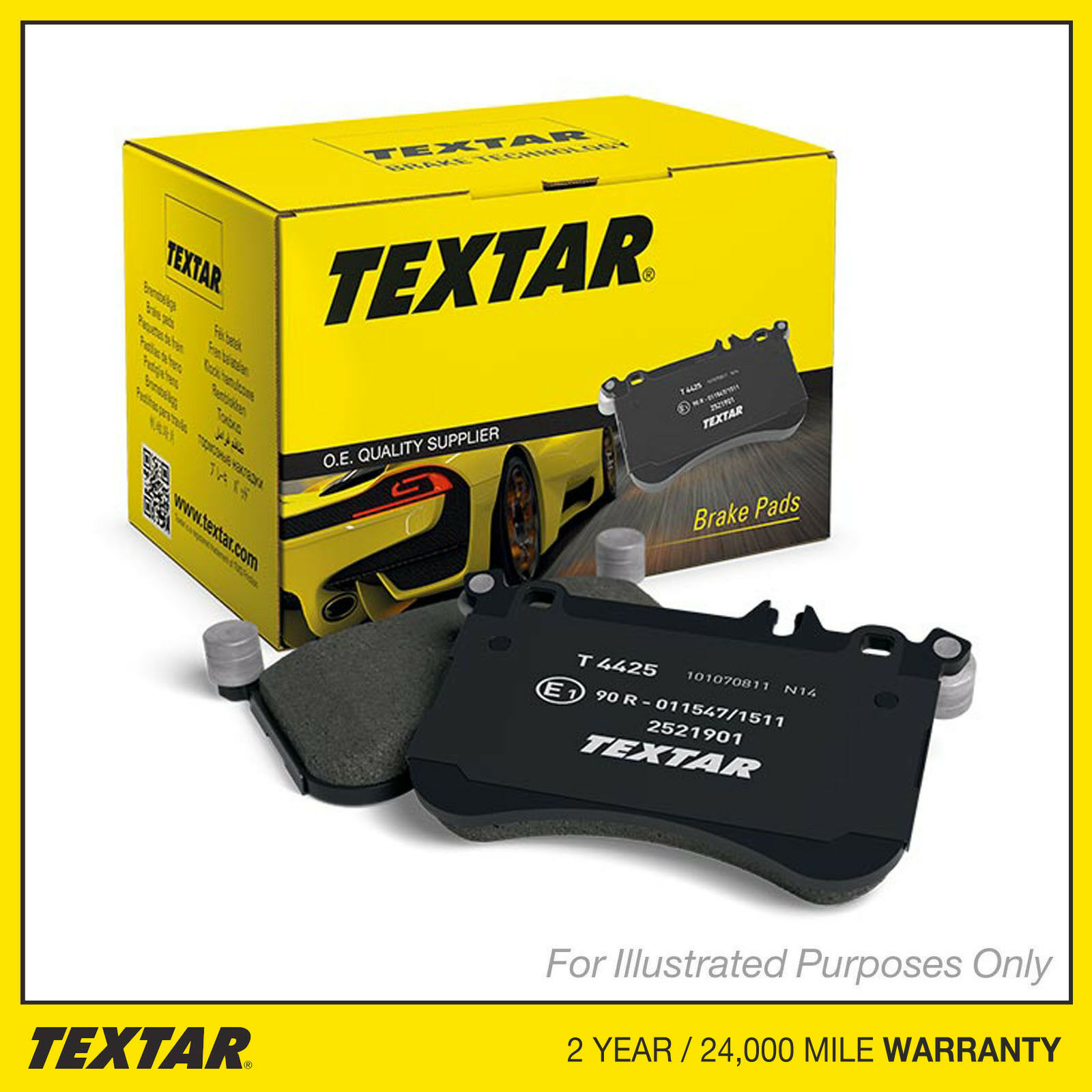 Fits Citroen C2 1.6 Genuine OE Textar Front Disc Brake Pads Set