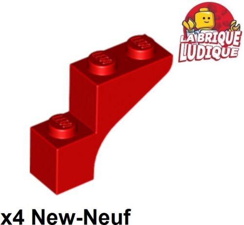 4x Brique Brick Arche Arch bow 1x3x2 rouge//red 88292 NEUF Lego