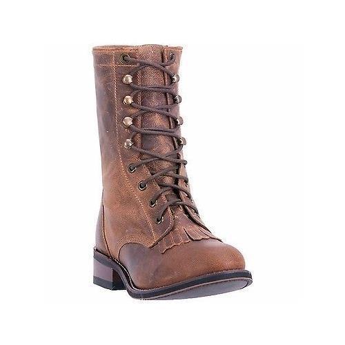 Prezzo al piano Laredo 52062 8  Sara rosa Tan Leather Leather Leather Inside Zipper Lace Up Roper Cowgirl stivali  Garanzia di vestibilità al 100%