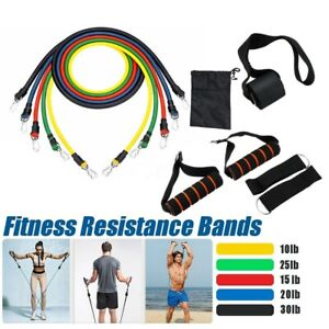 11-Pcs-Set-Latex-Resistance-Bands-Training-Exercise-Yoga-Tubes-Pull-Rope-Rubber
