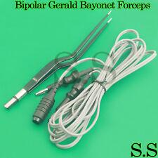 Bipolar Gerald Bayonet Forceps 20cm Non Stick Reusable Electrosurgical El 043