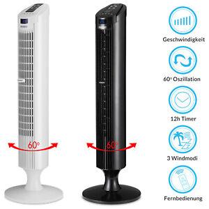 Ventilateur colonne oscillant 84cm fonction turbo télécommande 3 vitesses Air