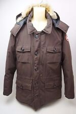 Canada Goose Banff Slim Fit Parka Coyote Fur Trim Caribou Coat Men's Size XL