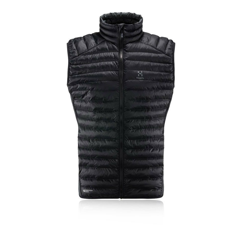Haglofs Uomo Essens Mimic Gilet Senza Maniche Collo Alto Zip Nero Sport Outdoor
